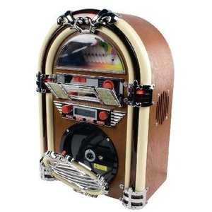 basicXL Tafelradio Jukebox FM / AM CD Bruin