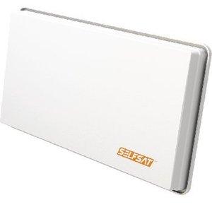 Selfsat H30D4 Platte Schotelantenne Quad LNB Wit