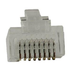 Valueline Connector RJ45 Stranded UTP CAT5 Male PVC Transparant