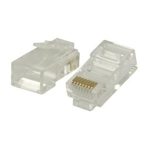 Valueline Connector RJ45 Solid UTP CAT6 Male PVC Transparant
