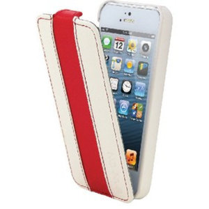 Canyon Tablet Flip-case iPhone 5s Imitatieleer Wit / Rood