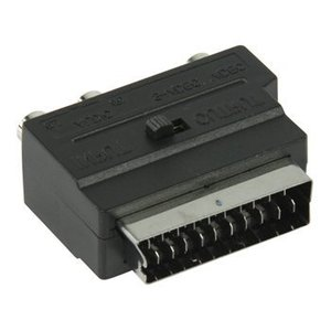 Valueline SCART Adapter Schakelbaar SCART Male - S-Video Female + 3x RCA Female Zwart