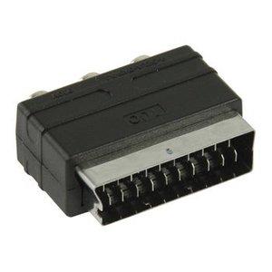 Valueline SCART Adapter SCART Male - 3x RCA Female Zwart
