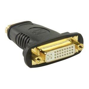 Valueline High Speed HDMI met Ethernet Adapter HDMI Female - DVI-D 24+1-Pins Female Zwart