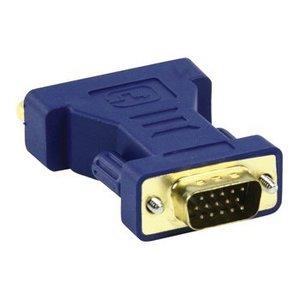HQ VGA Adapter VGA Male - DVI-I 24+5-Pins Female Blauw