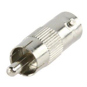 Valueline BNC Adapter RCA Male - BNC Female Zilver