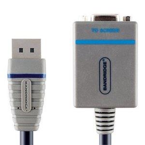 Bandridge DisplayPort Kabel DisplayPort Male - VGA Female 15-Pins 0.20 m Blauw