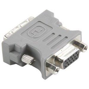 Bandridge DVI Adapter DVI-A 12+5-Pins Male - VGA Female 15-Pins Grijs