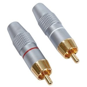 HQ Connector RCA Male Metaal Zilver