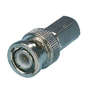 Valueline Connector BNC Male Metaal Zilver