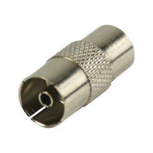 Valueline Coax Adapter Coax Male (IEC) - Coax Female (IEC) Zilver