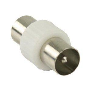 Valueline Coax Adapter Coax Male (IEC) - Coax Male (IEC) Wit