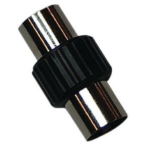 Valueline Coax Adapter Coax Male (IEC) - Coax Male (IEC) Zwart