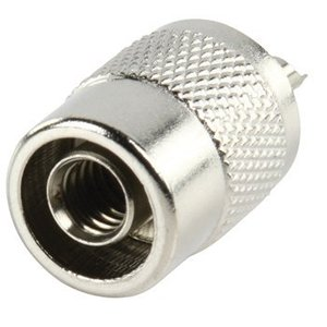 Valueline Connector UHF Male Metaal Zilver