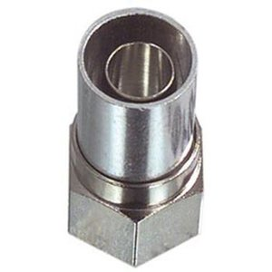 Hirschmann F-Connector 6.8 mm Male Metaal Zilver
