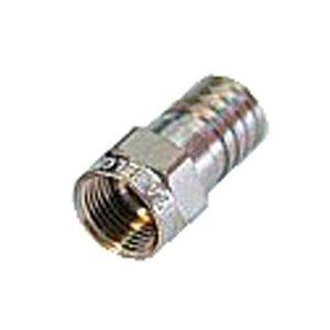 Hirschmann F-Connector 6.0 mm Male Metaal Zilver