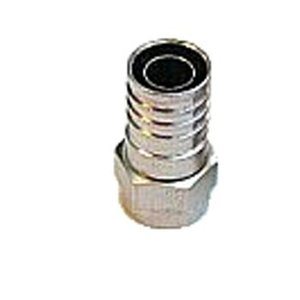 Hirschmann F-Connector 7.0 mm Male Metaal Zilver