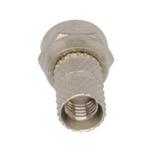 Valueline F-Connector 5.0 mm Male Metaal Zilver