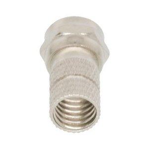 Valueline F-Connector 7.4 mm Male Metaal Zilver