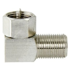 Macab Antenne Adapter F-Male - F-Connector Female Zilver