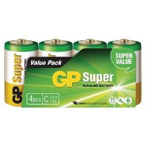 GP Alkaline Batterij C 1.5 V Super 4-Pack