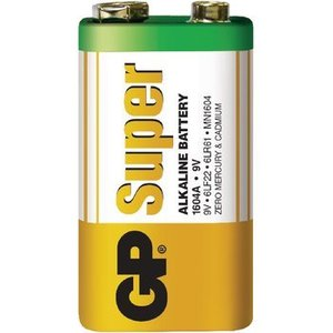 GP Alkaline Batterij 9 V Super 1-Blister