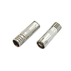 Hirschmann F-Connector 6.0 mm Female Metaal Zilver
