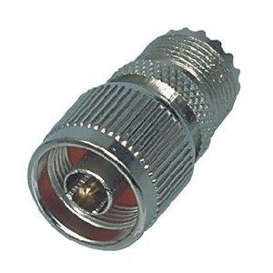 Valueline Antenne Adapter N Male - PL259 Female Zilver