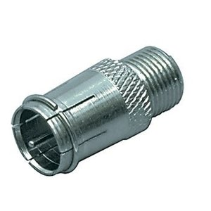 Valueline Antenne Adapter F-Male Quick - F-Connector Female Zilver