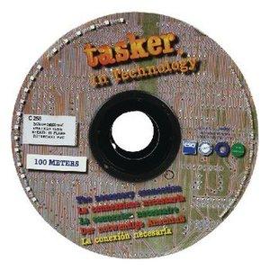 Tasker VGA Kabel op Haspel 3x 7/0.12 + 7x 7/0.12 - 100 m Grijs