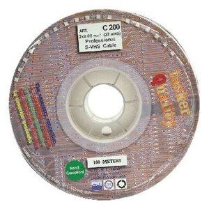 Tasker S-Video Kabel op Haspel 2x 0.08 mm² 100 m Zwart