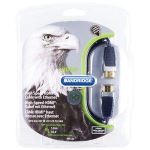 Bandridge High Speed HDMI kabel met Ethernet HDMI-Connector - HDMI-Connector 5.00 m Zwart