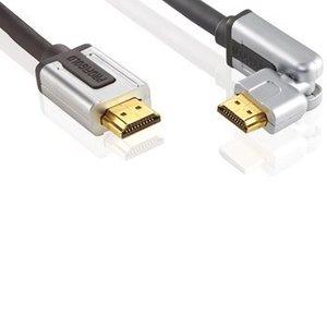 Profigold High Speed HDMI kabel met Ethernet HDMI-Connector - HDMI-Connector Draaibaar 1.00 m Zwart