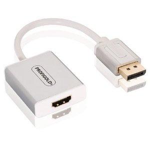 Profigold DisplayPort Kabel DisplayPort Male - HDMI-Uitgang 0.20 m Wit