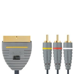 Bandridge SCART Kabel SCART Male - 3x RCA Male 2.00 m Blauw