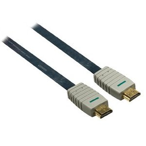 Bandridge High Speed HDMI kabel met Ethernet Plat HDMI-Connector - HDMI-Connector 7.50 m Blauw