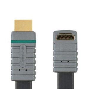 Bandridge High Speed HDMI kabel met Ethernet HDMI-Connector - HDMI-Connector Haaks 270° 2.00 m Blauw