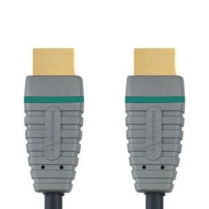 Bandridge High Speed HDMI kabel met Ethernet HDMI-Connector - HDMI-Connector 10.0 m Blauw