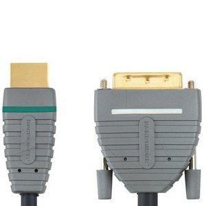 Bandridge High Speed HDMI Kabel HDMI-Connector - DVI-D 24+1-Pins Male 5.00 m Blauw