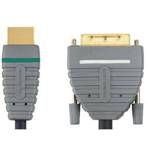 Bandridge High Speed HDMI Kabel HDMI-Connector - DVI-D 24+1-Pins Male 3.00 m Blauw