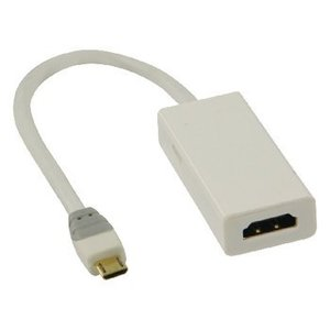Bandridge MHL Kabel USB Micro-B 5-Pins Male - HDMI Uitgang + USB-Micro-B Female 0.20 m Wit
