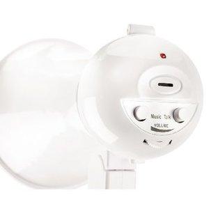 basicXL Megafoon 15 W Ingebouwde Microfoon Wit