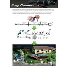 Easy Connect Halogeen Tuinlamp met Spies E27 20 W 230 V Warm Wit