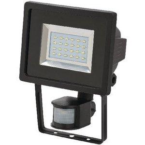 Brennenstuhl Brennenstuhl SMD-LED-lamp L DN 2405 PIR IP44 met infrarood bewegingsmelder 24x0,5W 950lm zwart Energie efficiëntieklasse A