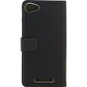 Mobilize Smartphone Gelly Wallet Book Case Wiko Jerry Zwart