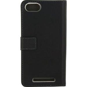 Mobilize Smartphone Gelly Wallet Book Case Wiko Lenny 3 Zwart