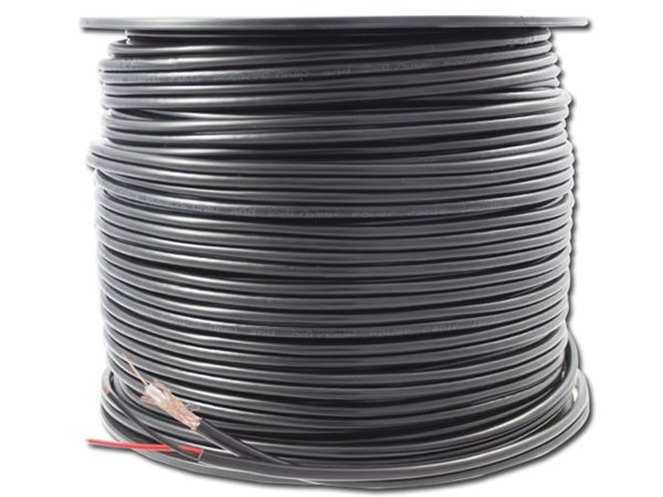 Alpha Cable, coax combi cable RG59 + 2x0.75 on wooden reel 500 meters