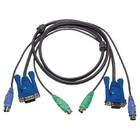 Aten KVM Kabel VGA Male / 2x PS/2-Connector - VGA Female 15-Pins / 2x PS/2-Connector 1.8 m