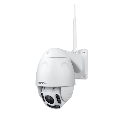 Wireless high-performance and high resolution HD IP outdoor camera. IR range of the FI9928P for night vision is up to 60 meters. 4x optical zoom, sd card storage possible.