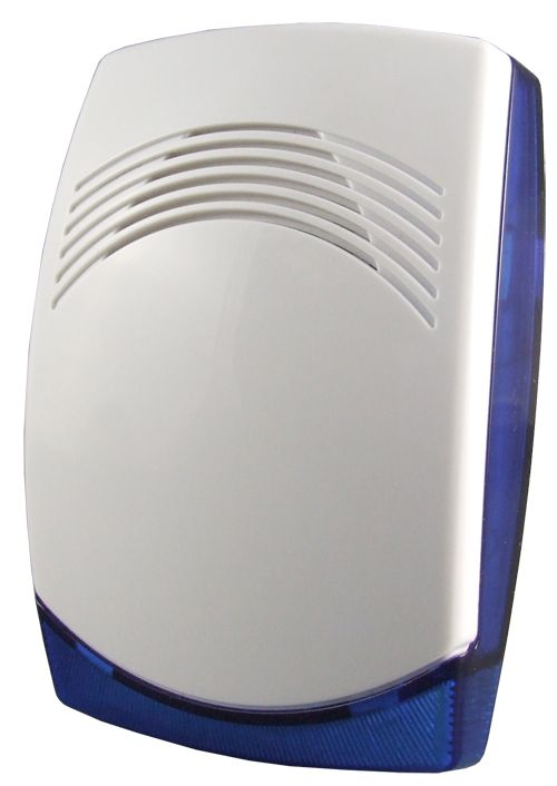 Wired indoor siren with blue LED flash light, 12V